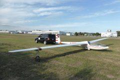 Segelflug-DG100-an-der-Schleppstange